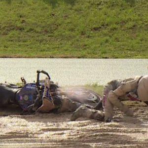 Serge Nuqes dans la boue lors de la course X-Raodster