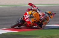 Au bord de la chute en Moto GP